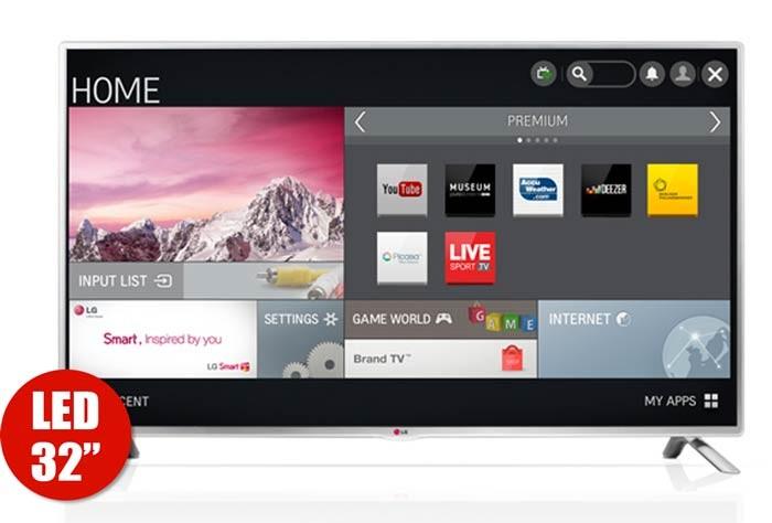 tv 32 81cm led lg 32lb580 hd internet. Black Bedroom Furniture Sets. Home Design Ideas