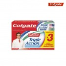 Crema Dental COLGATE Triple Acción 100ml x3 und.