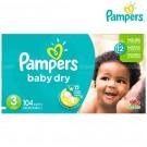 Pañal PAMPERS Baby Dry Etapa 3 Caja 104