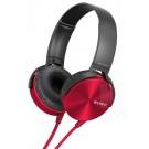Audífonos SONY de diadema Extra Bass MDR-XB450 rojos con manos libres